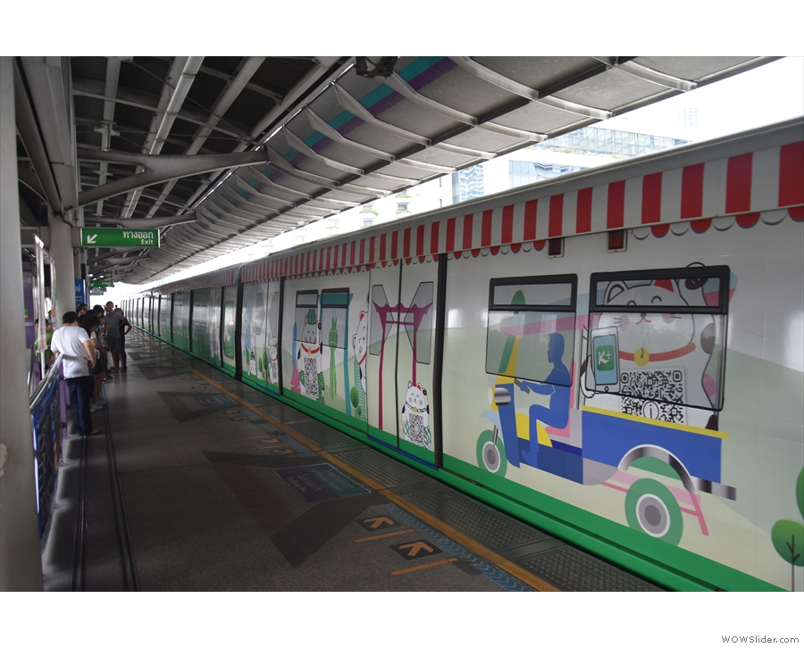 They like their trains colourful in Bangkok!