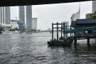 From Saphan Taksin, it was down to Central Pier under the station itself...