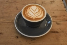 ... and a flat white.