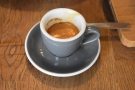 ... and to try the house espresso, OCC's Foundry No.2 blend, as an espresso.