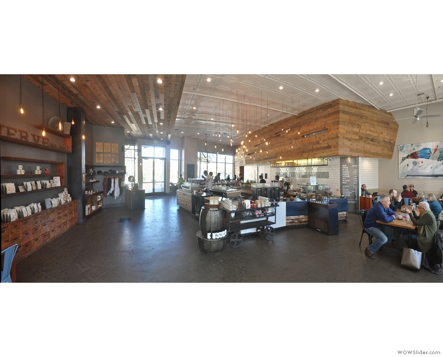 A panoramic view from just inisde the Pacific Avenue door. Look at all that space!