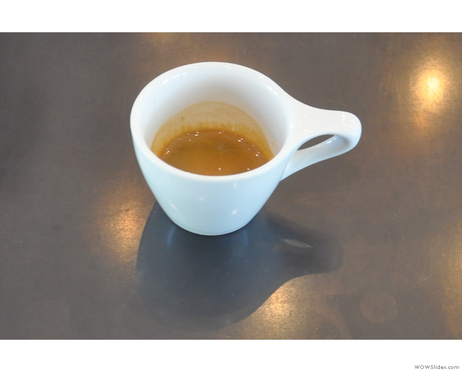 ... and a single-shot espresso, which was gorgeous.