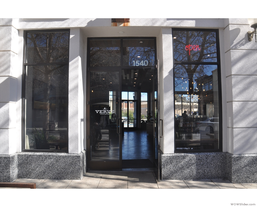 ... you'll find the flagship store for local roasters, Verve Coffee Roasters.