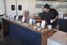 While I was there, Verve held a cupping on the pour-over counter.