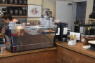 The espresso machine takes pride of place in the centre of the counter...