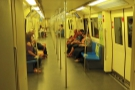 The metro trains themselves are also spacious.