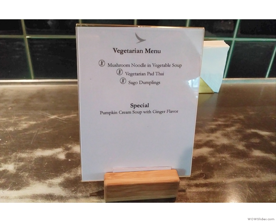 There's an excellent vegetarian selection, which I'd have appreciated had I had longer!