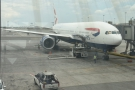 My ride back to Heathrow, another Boeing 777-200 in a three-class configuraton.