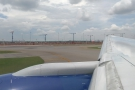 ... which took my mind off my bad back! Here we are taxiing off past the terminal buildings.