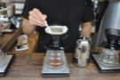 At Onibus, the coffee is stirred both during pouring and afterwards.
