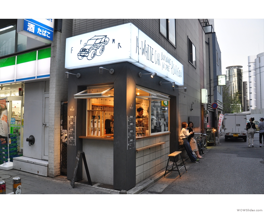 On the corner of Dōgenzaka & a broad alley at the west end of Shibuya stands About Life.