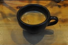 And here's one the barista prepared earlier, my espresso in my Kaffeeform cup...