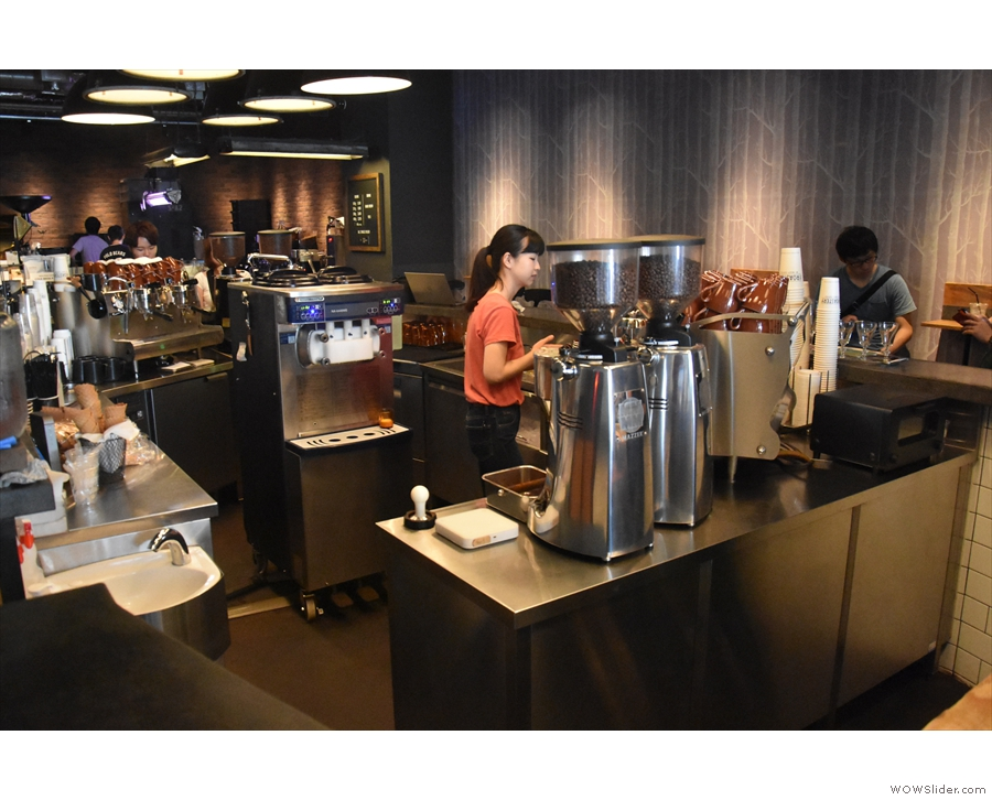 I, however, had come for espresso. There are two espresso machines, one at the front...