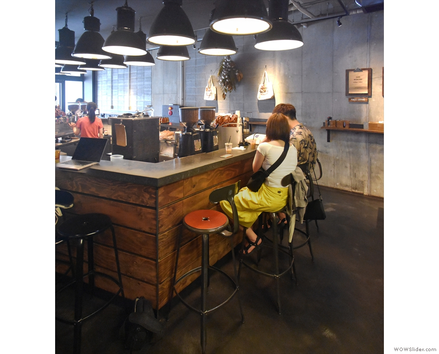... or right at the back, where there are four of these bar stool/chairs.