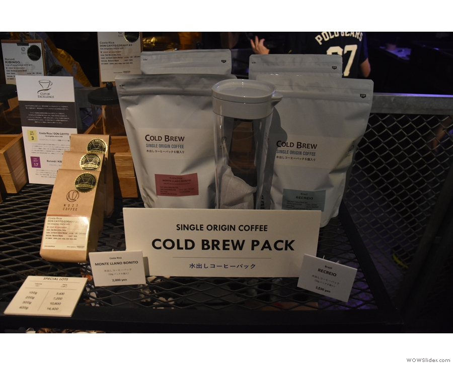 There's also cold brew packs. Moving on...