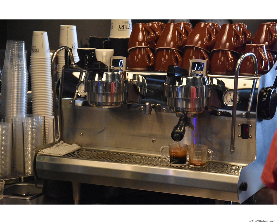 Naturally, I love watching espresso extracting. This is a really weird extraction though.