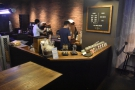 Pour over has its own, seperate counter at the back by the roaster.