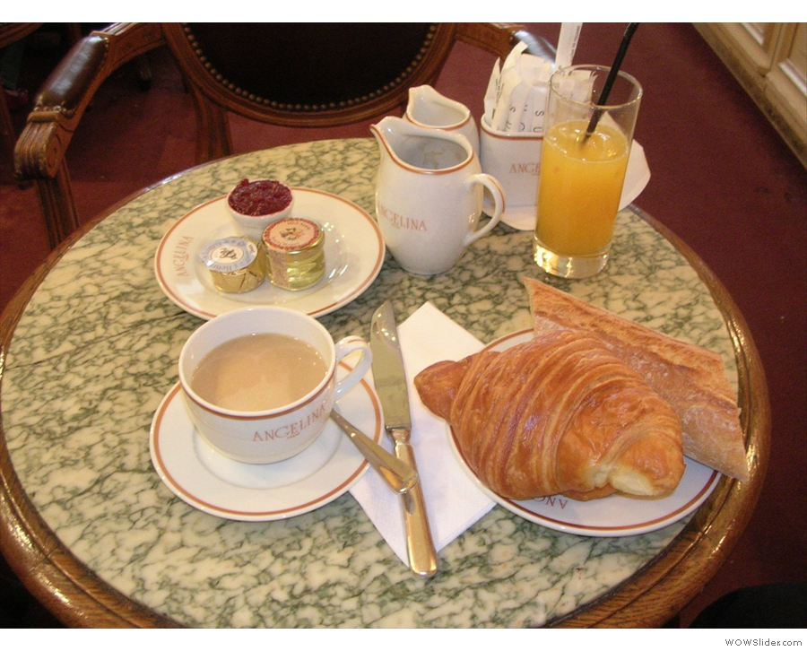 It's not all Mont Blancs though. This is breakfast at Angelina, from 2007.