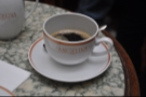 Having ordered cafe au lait, I actually drank my coffee black!