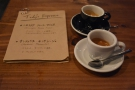 Naturally we had to try them both. The Nicaraguan is in the black cup, matching the menu.