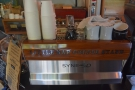 Next comes the espresso machine, a rather lovely custom Synesso...
