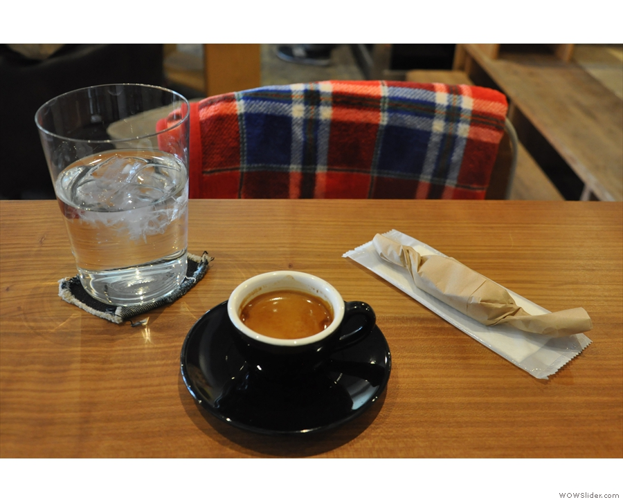 I visited Kaido several times in 2017. On my first visit, I had an espresso, served with...