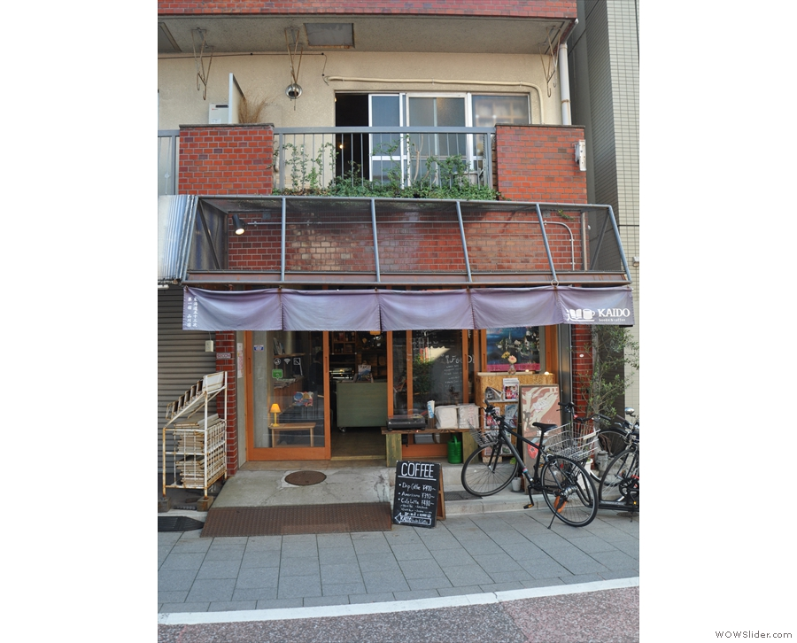 This modest, two-storey building stands in a narrow, residential street in Shinagawa.