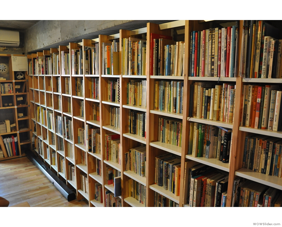However, we can't leave without a last look at the shelves and shelves of books...