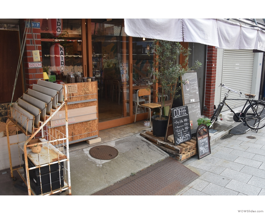 Kaido Books & Coffee on my return in July 2018, looking much as it did...