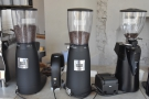 ... which has no fewer than three grinders, house-blend, guest and decaf.