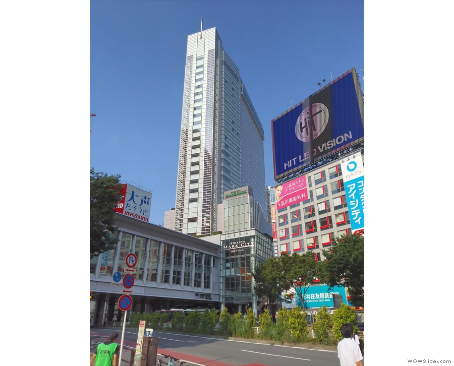 My hotel for the first part of my stay in Tokyo, the Excel Shibuya.