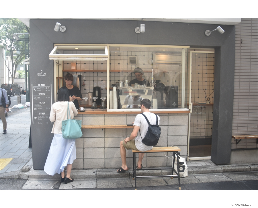 This included About Life Coffee Brewers, around the corner from both my hotel...