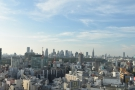 The view from the 22nd floor was pretty spectacular, looking north to Shinjuku.