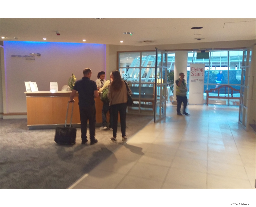 Upstairs, by the way, is the British Airways lounge.