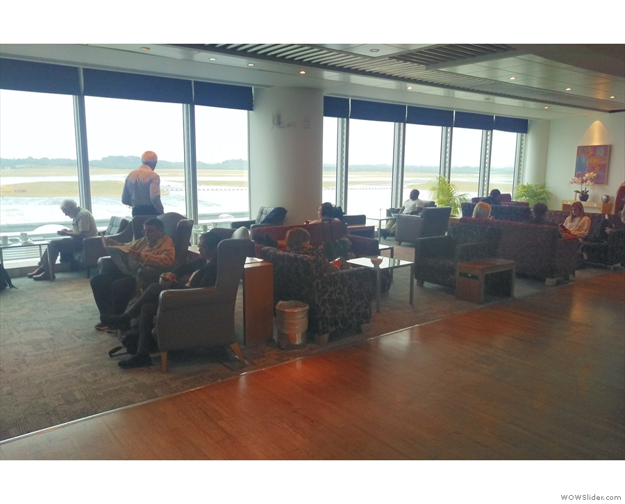 ... while if you head further in, there are more seats, overlooking the runway.