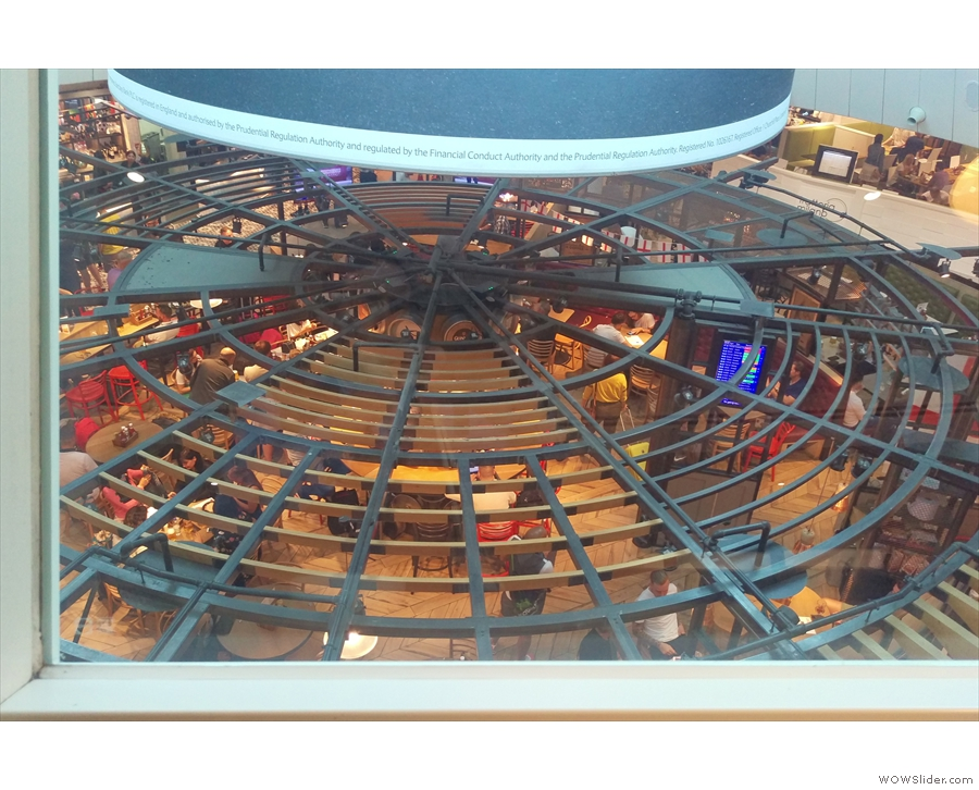 If you sit here, you get to look down on the main terminal below...