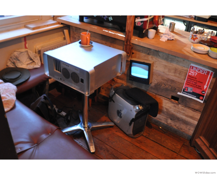 ... while my table in the corner was an old PC!