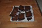 The brownies, doing their tempting thing on the counter...