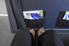 ... I moved up and, behold! I have legroom!