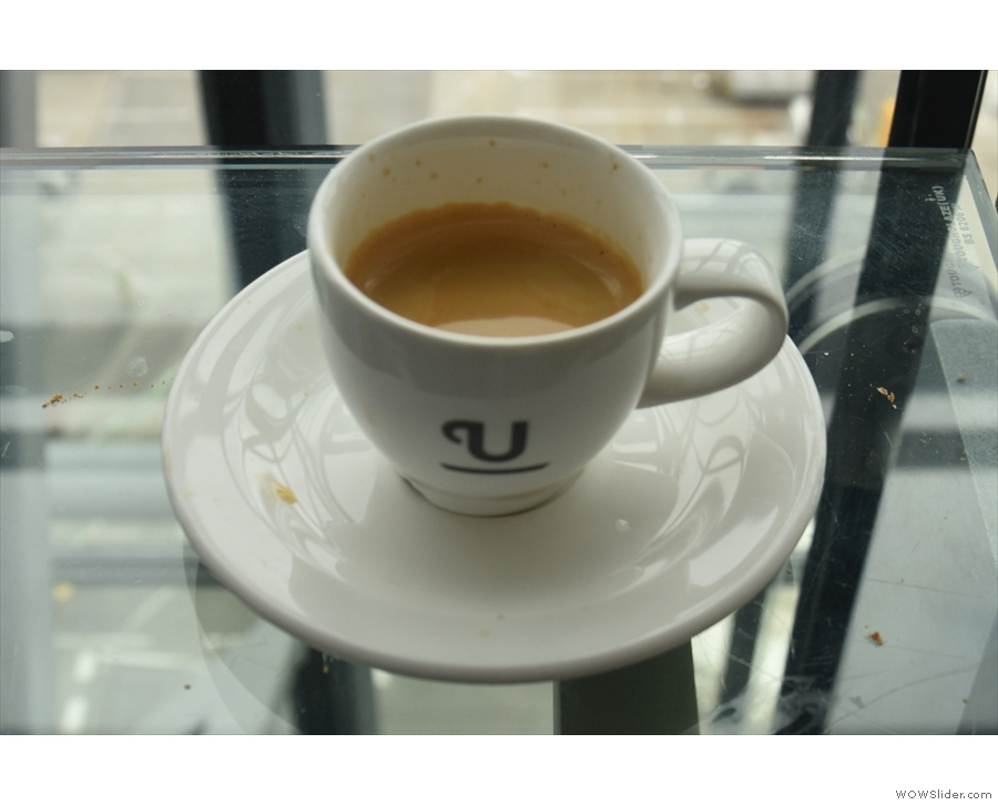 ... which I enjoyed with a cup of Union coffee. Click on the photo to see what I made of it.