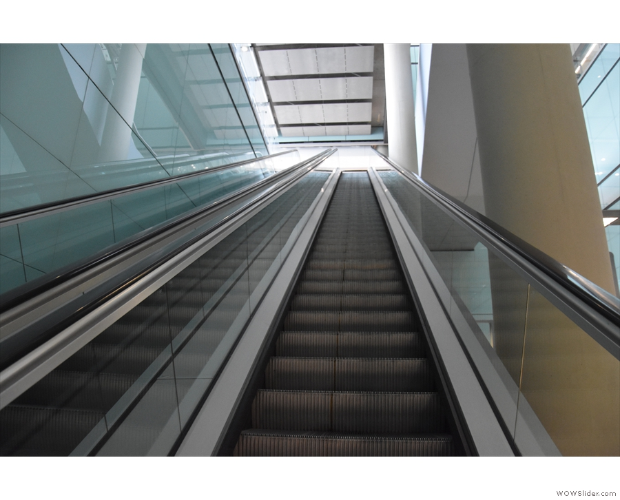 A couple of minutes later and I'm on my way up on the escalators...