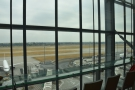 ... or look out onto the runway, where you can see the planes, in this case, landing.