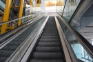 A second escalator takes you to the top floor and the departure gates.