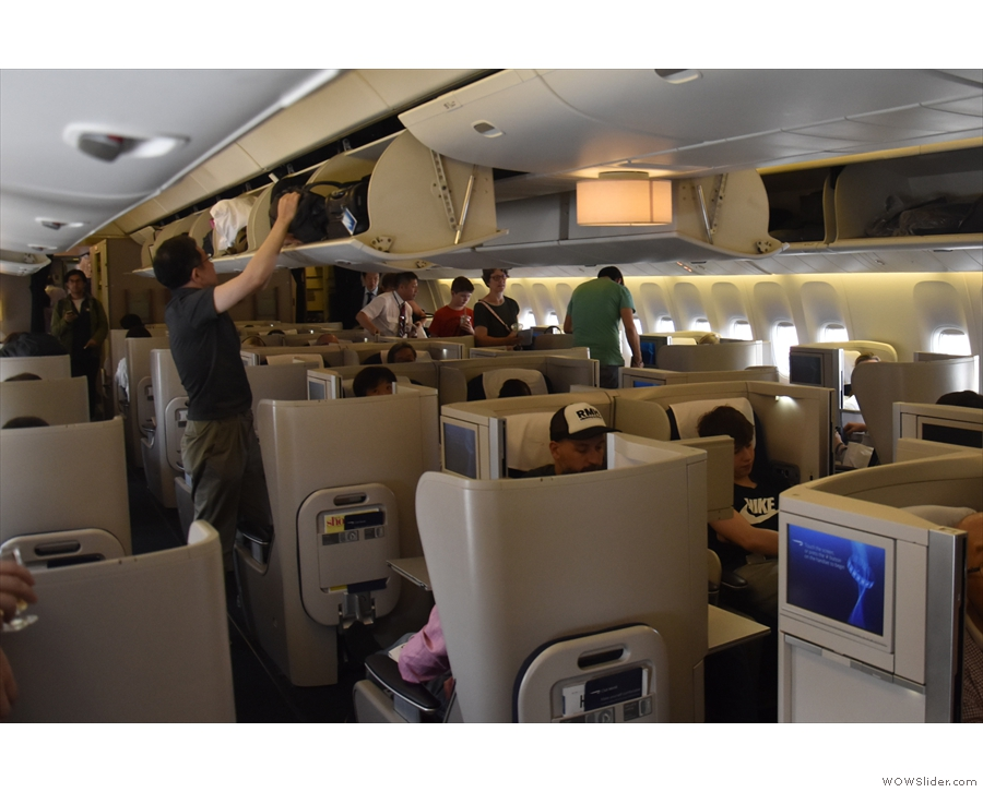 I was right at the back of the Club World section, in seat 16A.