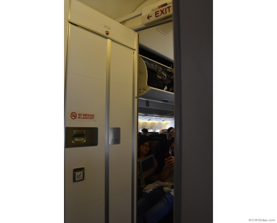 I was right at the back, by World Traveller Plus.