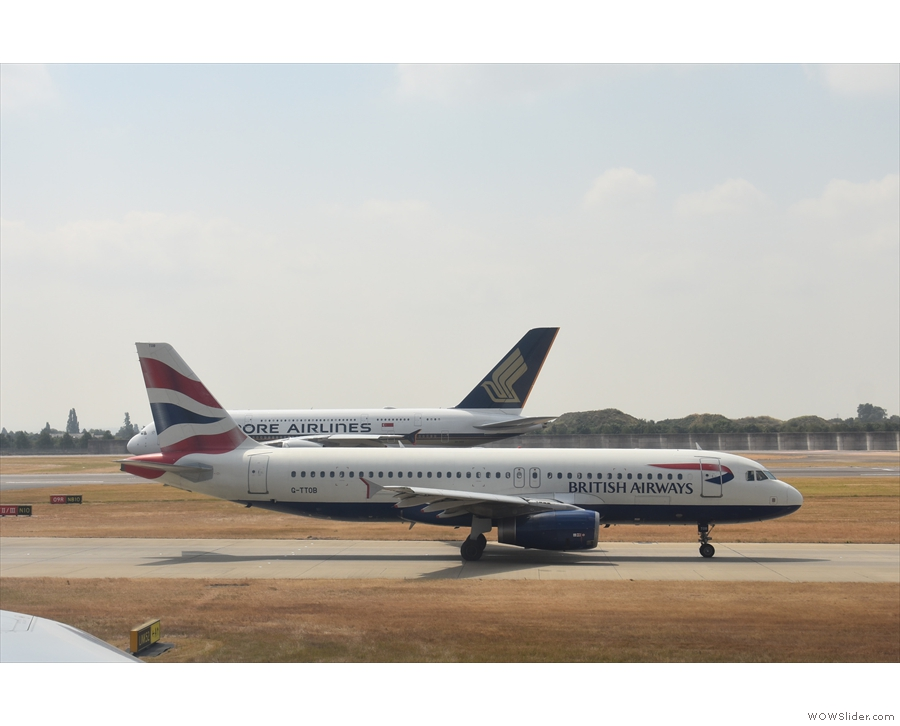Hey! What's that little A320 doing overtaking us? The cheek!