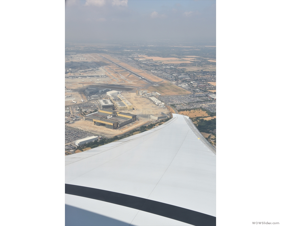 ... giving us a very good view of the northern runway at Heathrow.