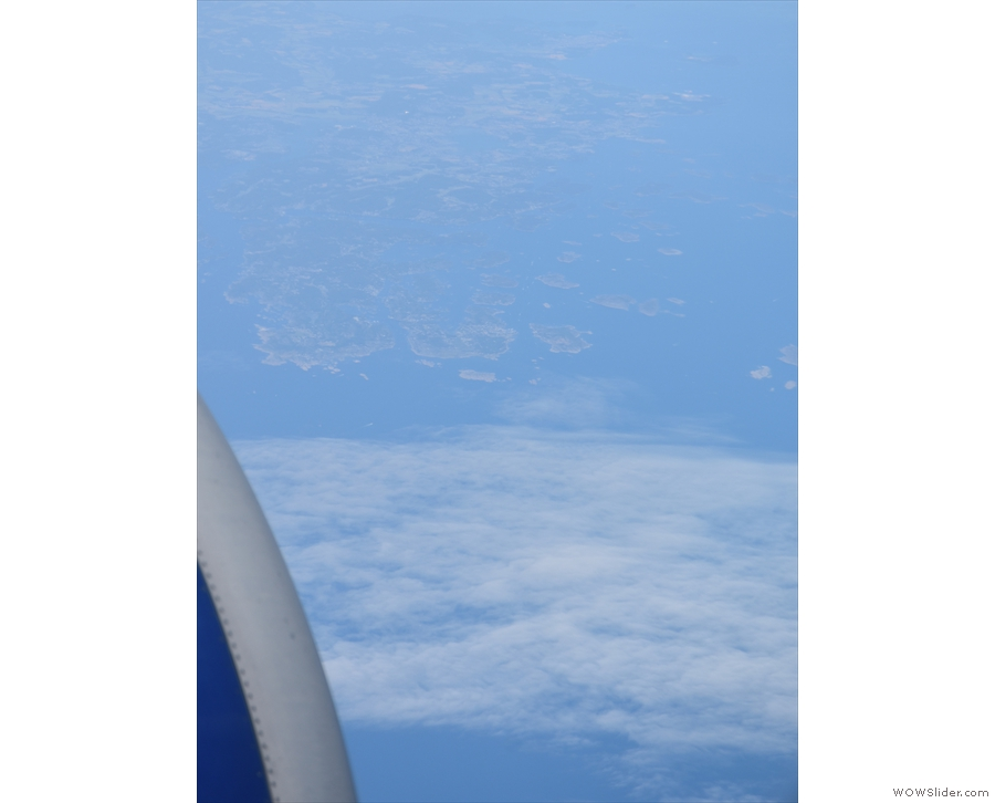 And there it is, the southern Norweigan coast.