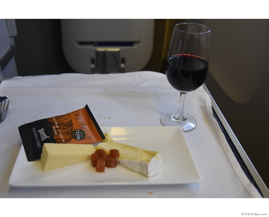 I rounded things off with port and cheese.