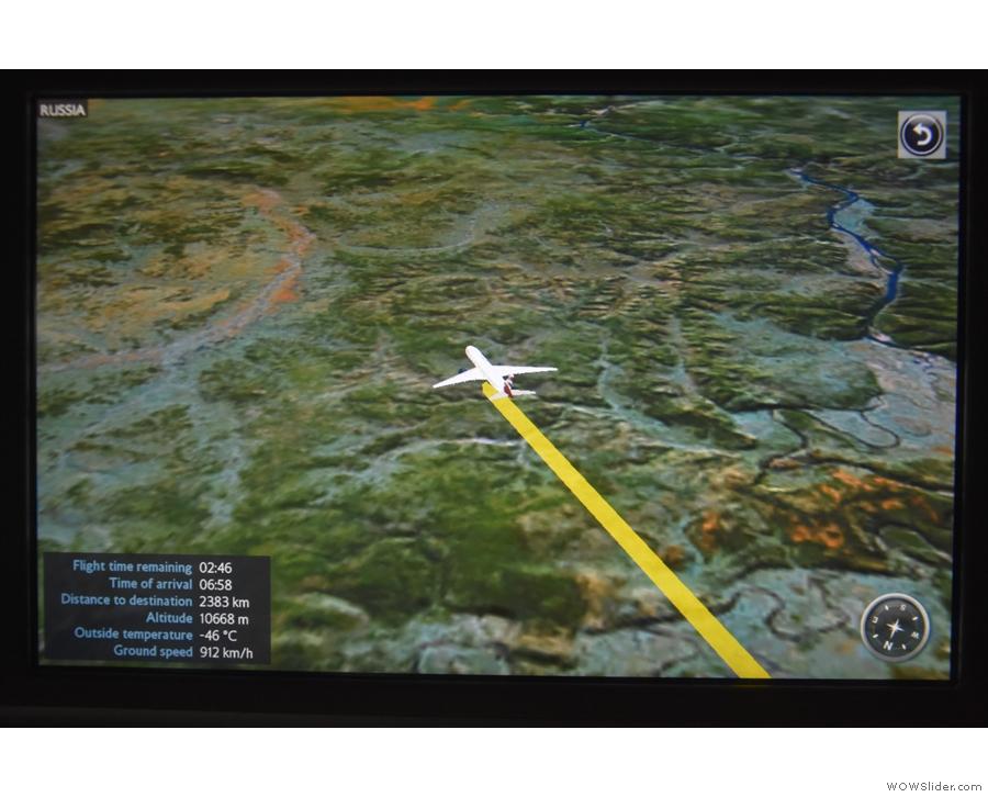 Still flying over Russia...